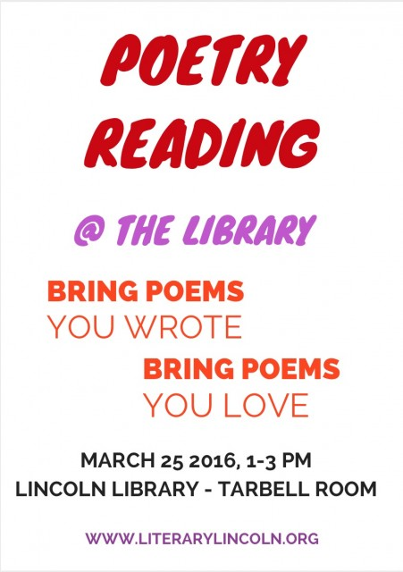 Poetry Reading March 2016